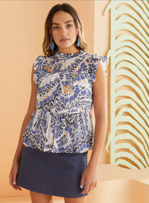 Marie Oliver Tia Blouse, Marlin Butterfly