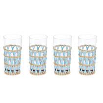 Amanda Lindroth Island Wrapped Ice Tea Glasses, Light Blue