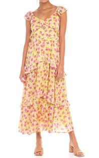 Banjanan Erin Dress, Vibrant Yellow