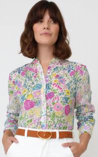 Banjanan Alfreda Shirt, White Multi