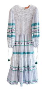 Oliphant Jungi Green Smocked Maxi Dress