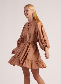 Cleobella Magdalena Mini Dress, Tan
