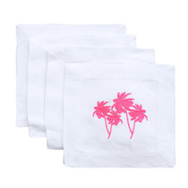 Lettermade Cocktail Napkins, Neon Palms