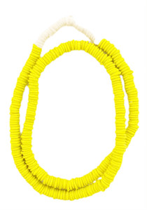 Trade Beads Shorty Necklace, Shiny Lemon