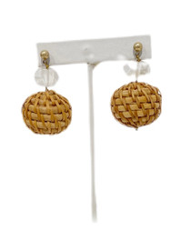 Raffia Lantern Earrings, Clear