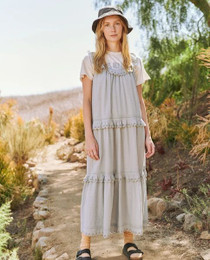 The Great Magnolia Dress, Dusty Powder Blue