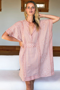 Emerson Fry Short Caftan, Muted Clay