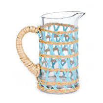 Amanda Lindroth Small Island Wrapped Pitcher, Light Blue