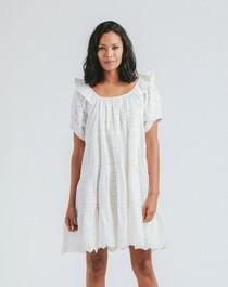 Cleobella Ferris Mini Dress, Ivory