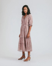 Cleobella Piper Midi Dress, Meadows Block Print