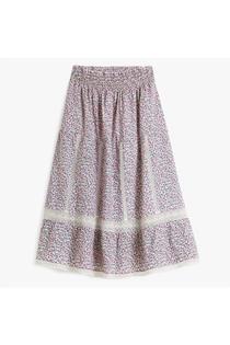 Pink City Prints Cienna Skirt, Ditsy Glade