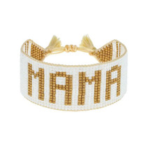 Hart MAMA Bracelet, White and Gold