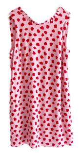 Joy Joy Ruffle Neck Dress, Red Dotty