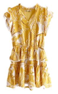 Joy Joy Celia Ruffle Mini Dress, Yellow
