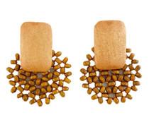 Beaded Bursts Earrings, Natural