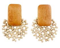 Beaded Bursts Earrings, White