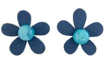 Flower Power Wooden Earrings