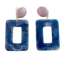 Geometric Drop Earrings, Rectangle
