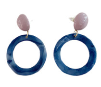 Geometric Drop Earrings, Circle