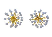 Dandelion Burst Buttons, Baby Blue