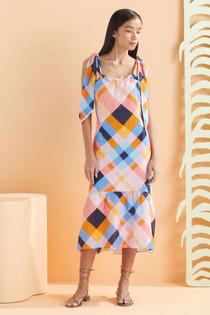 Marie Oliver Maya Midi Dress, Plaid