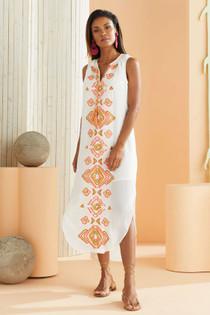 Marie Oliver Ellis Embroidered Dress, Summer Ikat