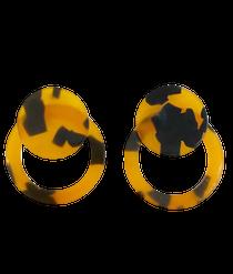 Tortoiseshell Button Stud Classic, Brown