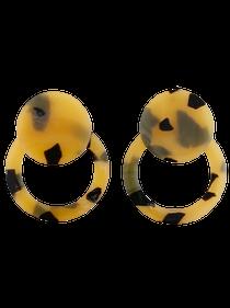 Tortoiseshell Button Stud Classic, Tan