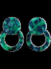 Tortoiseshell Button Stud Classic, Green