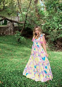 Sheridan French Kelly Dress, Lemon