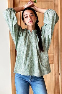Emerson Fry Elina Blouse, Orchid Green Calico