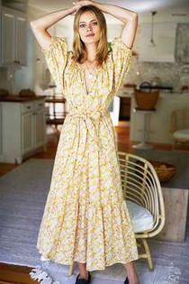 Emerson Fry Rakel Long Dress, June Calico