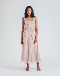 Cleobella Cassandra Midi Dress, Scallop Block Print