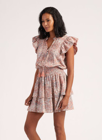 Cleobella Rachelle Mini Dress, Marled Print