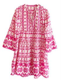 Lola Moroccan Mini Dress, Pink Apple