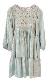 Kopal Zeenat Dress, Sea Green Stripe