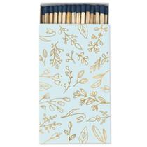 Frankie & Claude Fancy Matchbox, Light Blue& Gold Floral