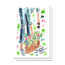 Evelyn Henson Love and Flowers Card