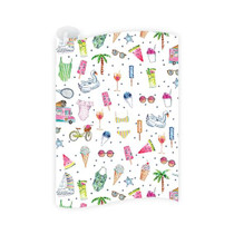 Dogwood Hill Wrapping Paper Roll, Pool Party