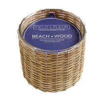 Field + Fleur 3 Wick Candle, Beach Wood