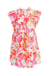 Crosby Millie Dress, Pink Tropics