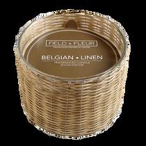 Field + Fleur 3 Wick Candle, Belgian Linen