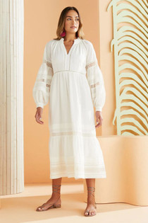 Marie Oliver Hanna Dress, Cool White