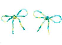 Seafoam Marbled Bow Earrings