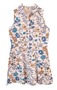 Livro Mini Sleeveless Shirtdress, Garden Blues