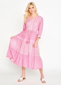 Bella Tu Maya Tiered Dress, Pink