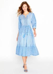 Bella Tu Maya Tiered Dress, Blue