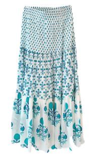 Ro's Garden Frilly Skirt, Pomme Turquoise