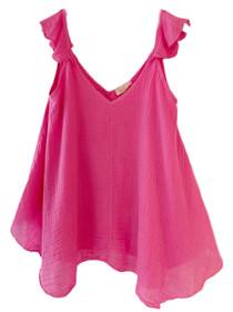 Sofia Hawa Top, Hot Pink