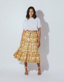 Cleobella Kimmi Midi Skirt, Honey Mix